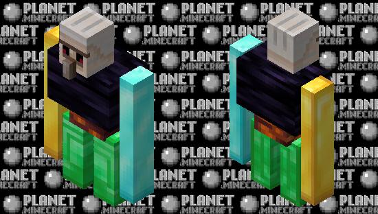 Iron golem blocks rares Minecraft Skin