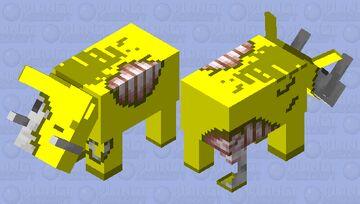 Golden Zoglin Minecraft Mob Skin