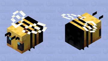 beautified bee (black stripes and color change and correction) Minecraft Mob Skin
