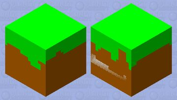 Grass block Minecraft Mob Skin