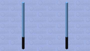 Lightsaber (BLUE) Minecraft Mob Skin
