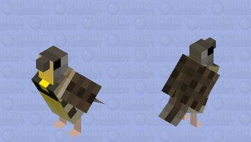 Western meadowlark (Sturnella neglecta) Minecraft Mob Skin