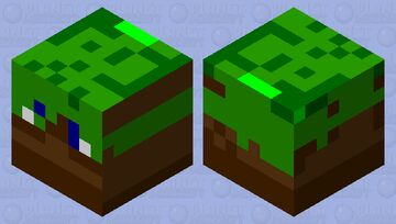 Grass cube Minecraft Mob Skin