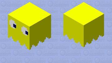 Pacman Ghost[Yellow] Minecraft Mob Skin