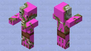 pink zombie pigman Minecraft Mob Skin