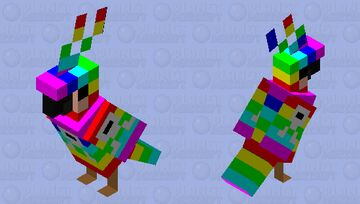 Rainbow Boss Parrot 0f Destruction Minecraft Mob Skin