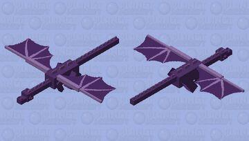 Kawaii Purple UwU Dragon Minecraft Mob Skin
