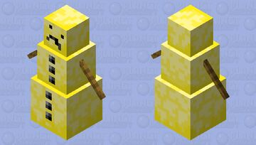 Butter Snow Man Minecraft Mob Skin