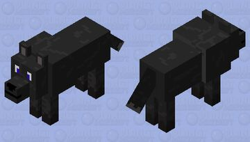 Dark Gray Wolf Minecraft Mob Skin