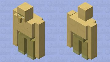 Now The Villager Really Unlocked His Full Potential ( Credit to MagmaCube) Minecraft Mob Skin