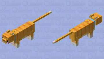 Kawaii Orange Cat Minecraft Mob Skin