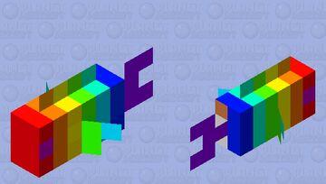 rainbow fish Minecraft Mob Skin