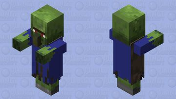 blue zombie villager Minecraft Mob Skin