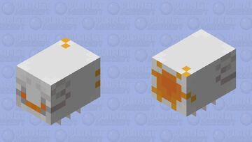 Pollinated Angry Lil' Ghast Minecraft Mob Skin