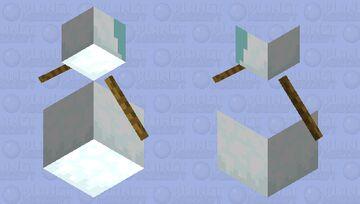 Broken Snow golem Minecraft Mob Skin