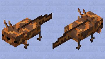 magma axolotl Minecraft Mob Skin