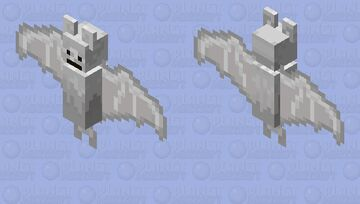 arctic fox bat      or      iron bat    or     white cat bat     or      snow bat Minecraft Mob Skin