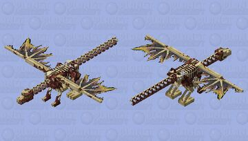 Dragon bones meat Minecraft Mob Skin