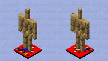 Armor Stand with (M123PP Logo Plate) Minecraft Mob Skin
