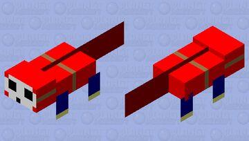 Shy Guy Axolotl Minecraft Mob Skin