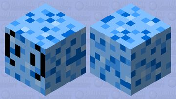 Magma Cube but...? (Frozen Cube) Minecraft Mob Skin