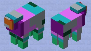 my little brothers rainbow 🐑 .... Minecraft Mob Skin