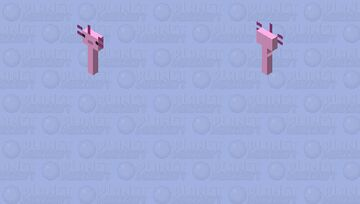 Axolotl Minecraft Mob Skin