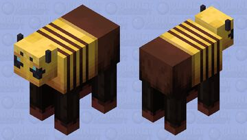 Cow Bee Minecraft Mob Skin
