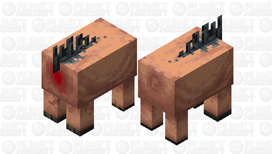 """Might as well continue that old series of """"butchers shop"""" mob skins. So, uh, here's a Hoglin. Minecraft Skin"""