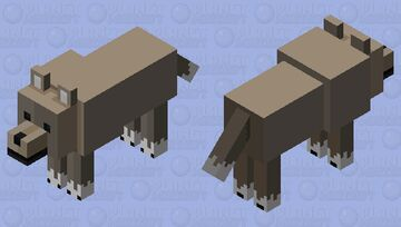 Brown Dog (9/10 of Farm Series) Minecraft Mob Skin