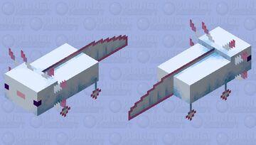 My Cyan Axolotl Friend In Minecraft Minecraft Mob Skin