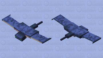 Unzombified phantom (Fixed wings) Minecraft Mob Skin