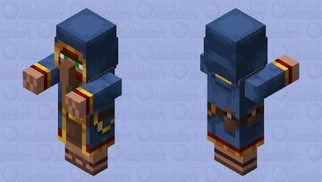 Wandering Trader With Arms Minecraft Mob Skin