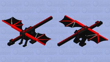 Red-style Ender Dragon Minecraft Mob Skin