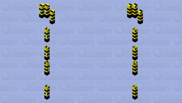 THE BEES ARE COMI'N Minecraft Mob Skin