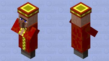 Alone_1244's Mob Shop:New-Year- Celebrating Villager Minecraft Mob Skin