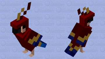Royal Parrot Minecraft Mob Skin