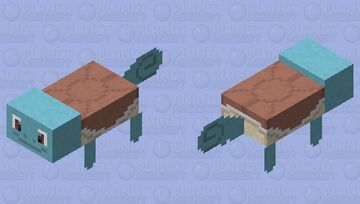 Squirtle - Pokemon Axolotl Replacer Minecraft Mob Skin