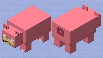 Slowpoke but he lose his tail (true size) Minecraft Mob Skin