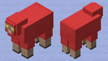 Red Enchanted Sheep Minecraft Mob Skin