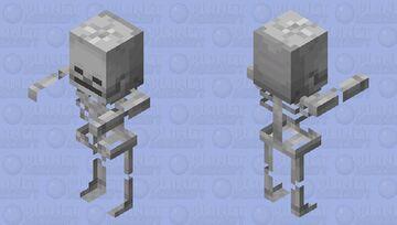 Skeleton Villager / original textures / Hostile Minecraft Mob Skin