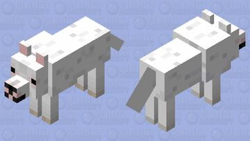 White Pitbull Minecraft Mob Skin
