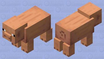 Accurate Pig (from Consistence Piggies Resource pack) Minecraft Mob Skin