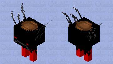 Saddled Dark Strider Minecraft Mob Skin