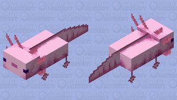 My Pink Axolotl In Minecraft Minecraft Mob Skin