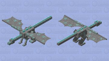 Diamond Ore Dragon Minecraft Mob Skin