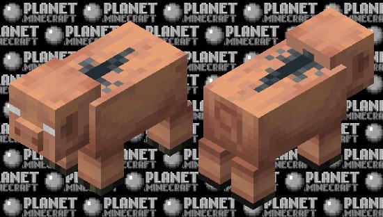 Poglin / hoglin variant or Pig nether / Nether / remade Minecraft Skin