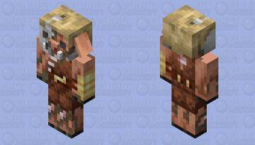 Piglin Brute Husk Minecraft Mob Skin