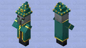 The Witch Illager (Variant 2) (Wizard Illager?) (Retexture) Minecraft Mob Skin