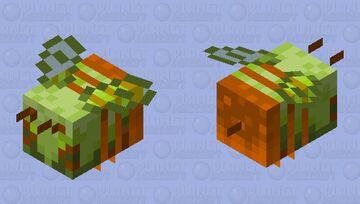 Orange-green bee Minecraft Mob Skin